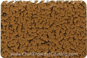 Ochre Brown leaf vein powder coating