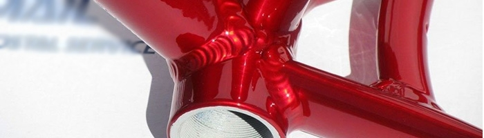 candy red powder coating