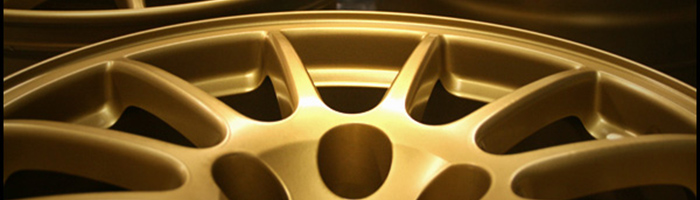 super gold powder coat wheel
