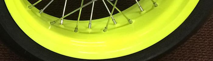 yellow luminous powder coating