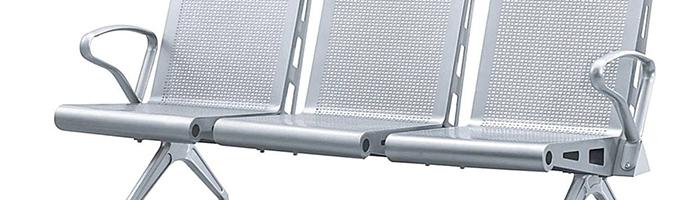 Chrome Silver Powder Coat Station Chair