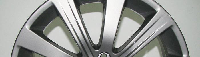 silver chrome powder coat wheel