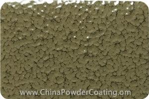 Olive Grey leaf vein powder coating