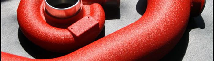 Sand red powder coat flatturbo