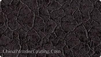 Black Crocodile Skin Powder Coating Powder Paint