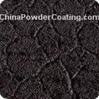Crack-wrinkle powder coating