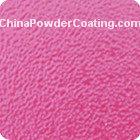 Fine wrinkel powder coating