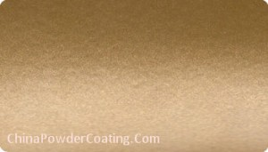 gold metallic powder coating