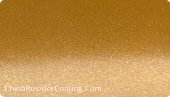 Gold Silver powder coating