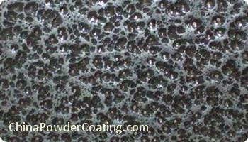 Antique silver black powder coating