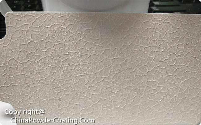 RAL9016 white crocodile powder coating