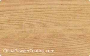 Wood grain finish powder coating