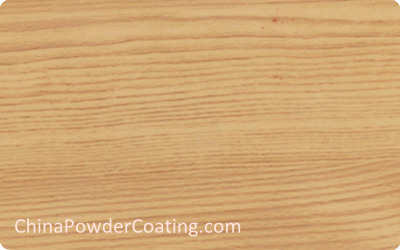 Wood effect powder coating