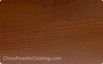 Wood grain finish powder coating