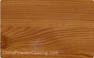 Wood grain texture powder coating