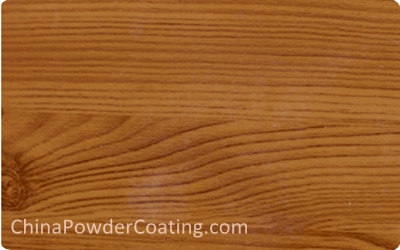 Wood grain texture powder coating