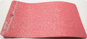 Pink crocodile powder coating