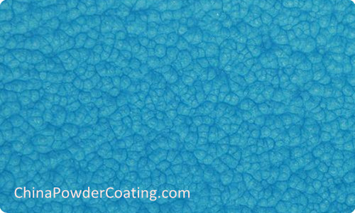 Blue hammer powder coating