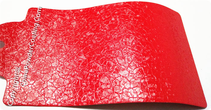 Red crocodile powder coating