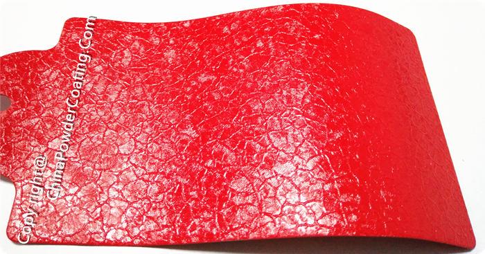 Red crocodile powder coating