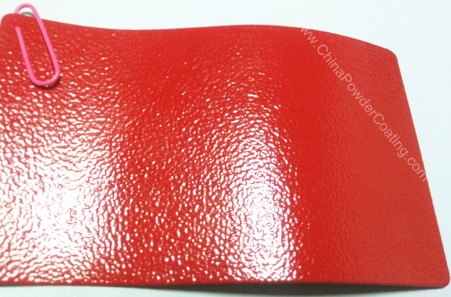 red wrinkle ral3020 powder coating