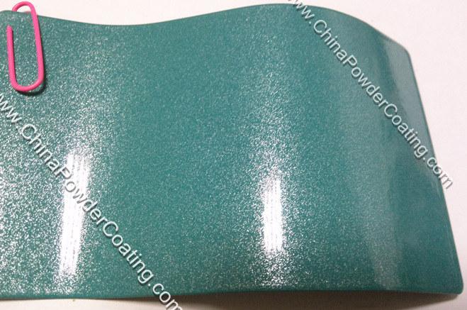 blue pearl powder coating