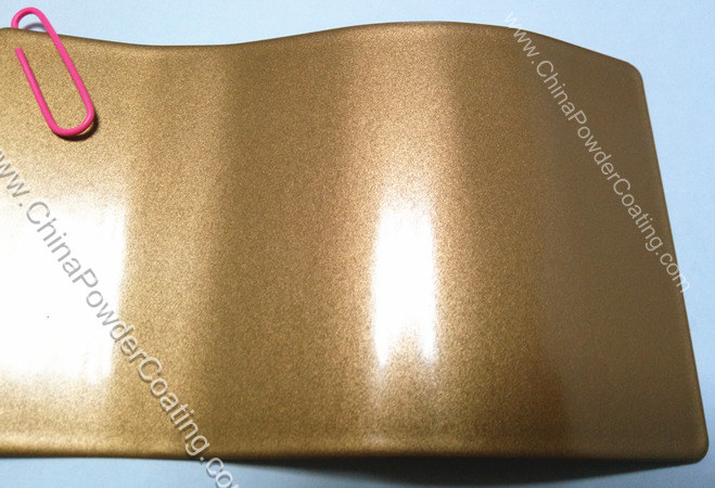 pearl gold powder coating
