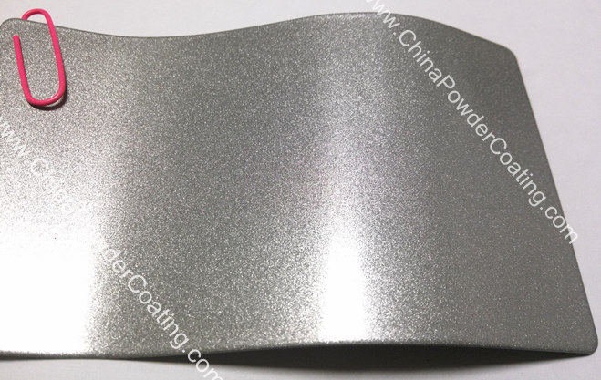 Luster silver powder coating