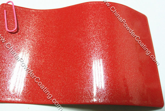 red pearl powder coating