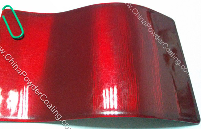 transparent red powder coating