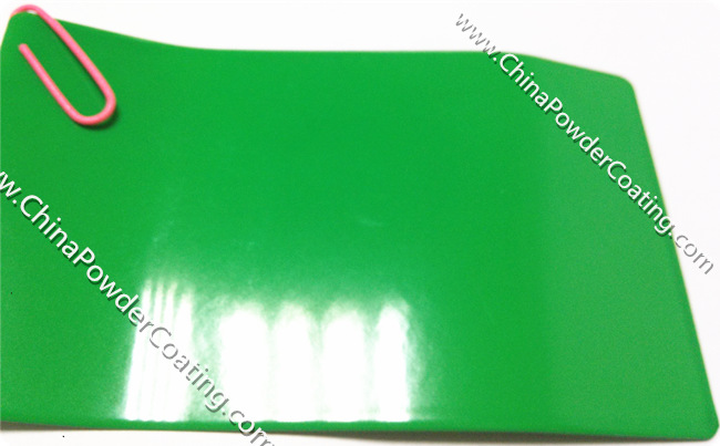 candy green powder coating