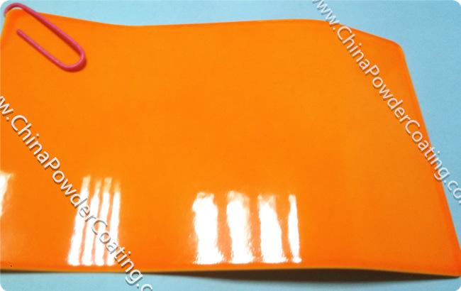 candy light orange powder coating