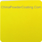 candy yellow powder coating
