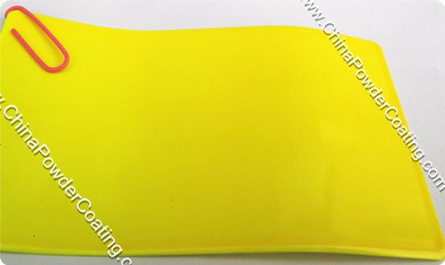 candy yellow powder coating