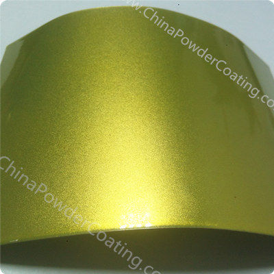 transparent yellow powder coating