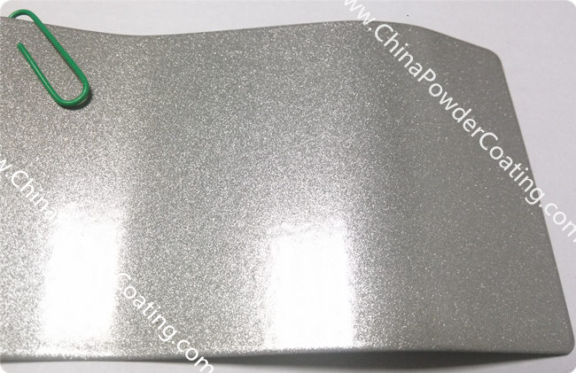 Sparkle Silver powder coating