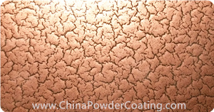 cracking effect copper powder coating