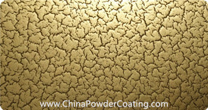 cracking effect gold powder coating