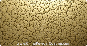 cracking effect gold powder coating
