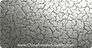 cracking effect silver powder coating