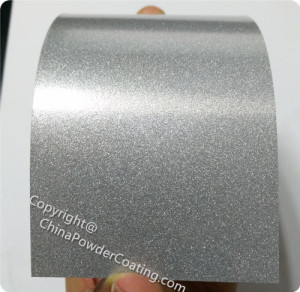powder paint color luster silver