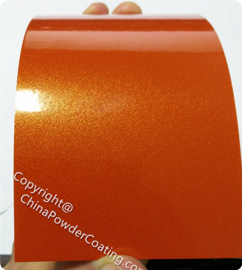 Powder Paint Color Orange Metallic