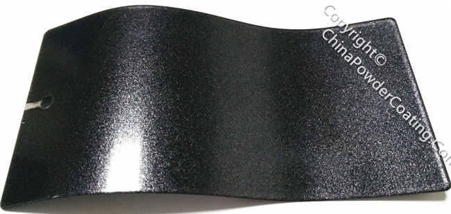 candy silver black powder coating paint