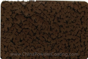 Chocolate brown leaf vein powder coating paints