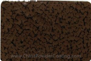 Chocolate brown leaf vein powder coating paints