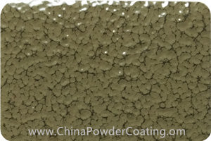 Olive Grey Leaf Vein powder coating paint