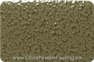 Olive Grey Leaf Vein powder coating paint