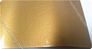 Metallic Gold Color powder coatings
