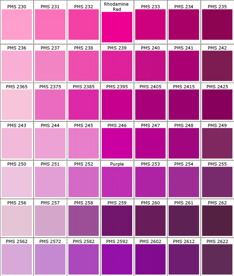 Pantone Pms Colors Chart Color Matching For Powder