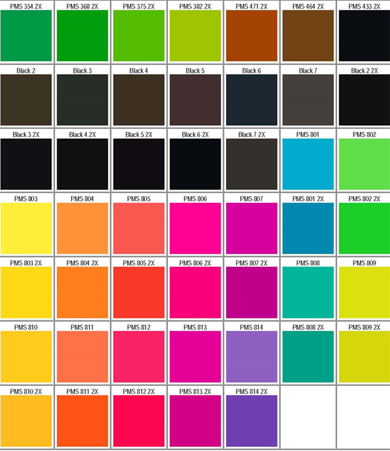 Pantone Pms Colors Chart  Color Matching For Powder Coating  Part